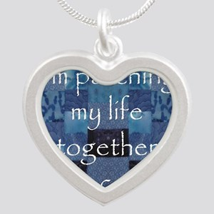Patchwork Life Silver Heart Necklace