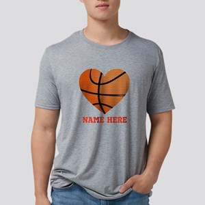 Basketball Love Personalize Mens Tri-blend T-Shirt