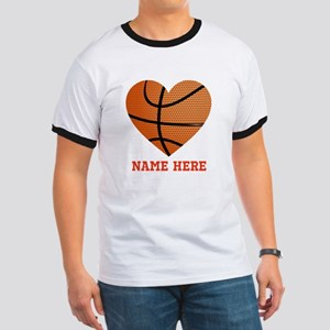 Basketball Love Personalized Ringer T
