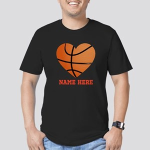 Basketball Love Person Men's Fitted T-Shirt (dark)