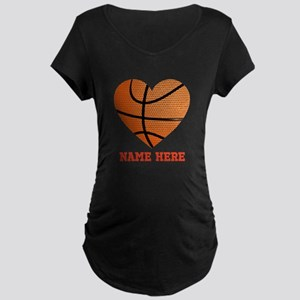 Basketball Love Personalize Maternity Dark T-Shirt
