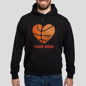 Basketball Love Personalized Hoodie (dark)