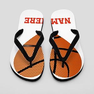 Basketball Love Personalized Flip Flops