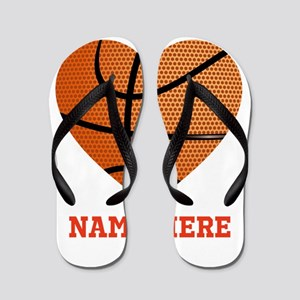 2c620b0f423d54 Basketball Love Personalized Flip Flops