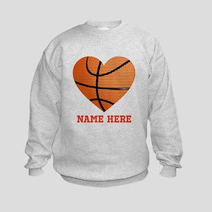 Basketball Love Personalized Kids Sweatshirt