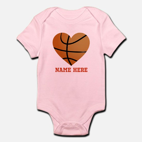 Basketball Love Personalized Baby Light Bodysuit