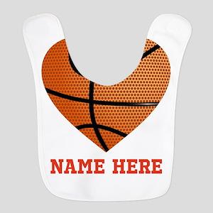 Basketball Love Personalized Polyester Baby Bib