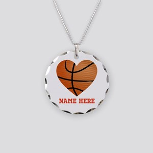 Basketball Love Personalized Necklace Circle Charm