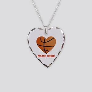 Basketball Love Personalized Necklace Heart Charm