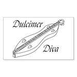 Dulcimer Diva Sticker
