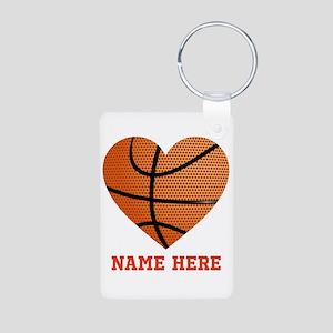 Basketball Love Personaliz Aluminum Photo Keychain