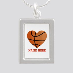 Basketball Love Personal Silver Portrait Necklace