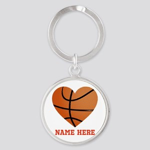 Basketball Love Personalized Round Keychain