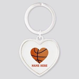 Basketball Love Personalized Heart Keychain