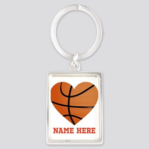 Basketball Love Personalized Portrait Keychain