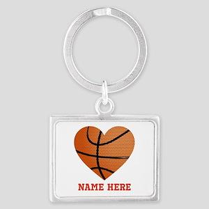 Basketball Love Personalized Landscape Keychain