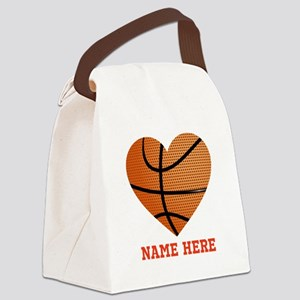 Basketball Love Personalized Canvas Lunch Bag