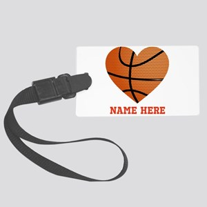 Basketball Love Personalized Large Luggage Tag