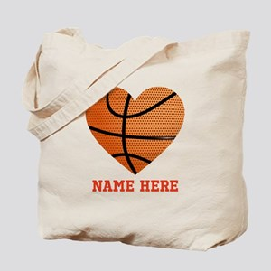 Basketball Love Personalized Tote Bag