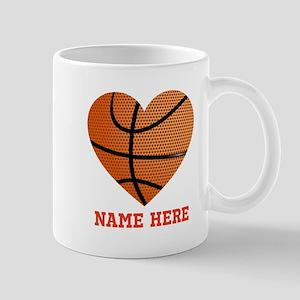 Basketball Love Personalized 11 oz Ceramic Mug