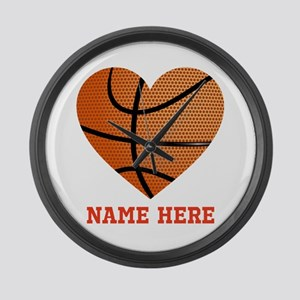 Basketball Love Personalized Large Wall Clock