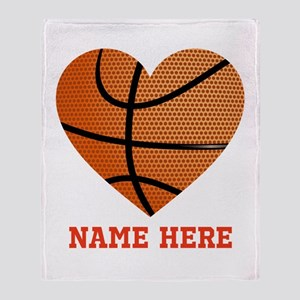 Basketball Love Personalized Throw Blanket