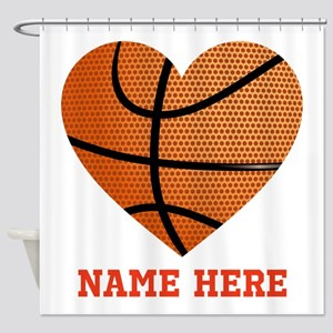 Basketball Love Personalized Shower Curtain