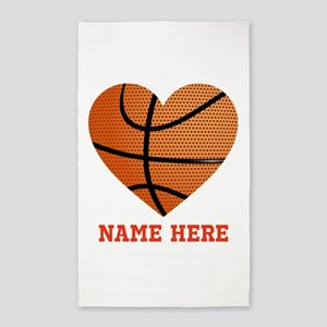Basketball Love Personalized Area Rug