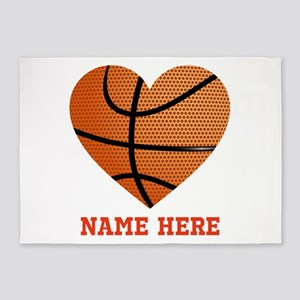 Basketball Love Personalized 5'x7'Area Rug