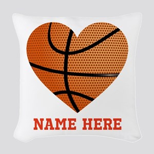 Basketball Love Personalized Woven Throw Pillow