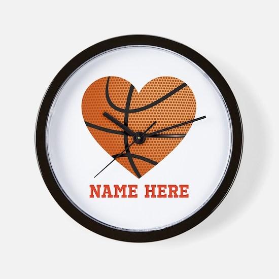 Basketball Love Personalized Wall Clock