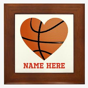Basketball Love Personalized Framed Tile