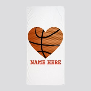 Basketball Love Personalized Beach Towel