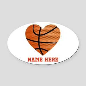Basketball Love Personalized Oval Car Magnet