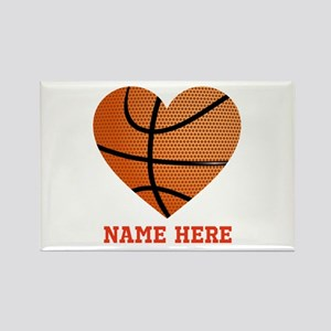 Basketball Love Personalized Rectangle Magnet