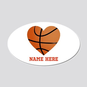 Basketball Love Personalized 20x12 Oval Wall Decal