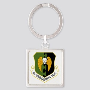 5th Bomb Wing Square Keychain