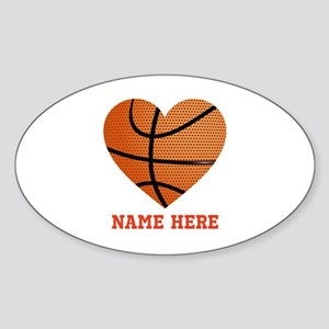 Basketball Love Personalized Sticker (Oval)
