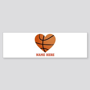 Basketball Love Personalized Sticker (Bumper)