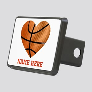 Basketball Love Personaliz Rectangular Hitch Cover