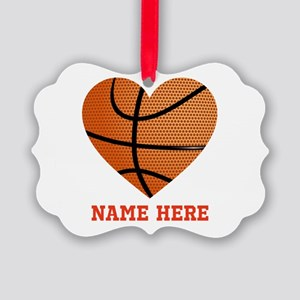 Basketball Love Personalized Picture Ornament