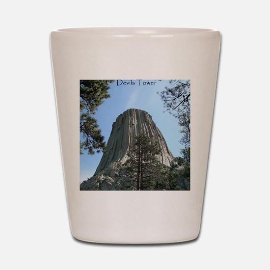 Devils Tower Shot Glass