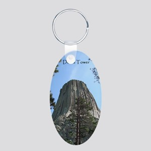 Devils Tower Aluminum Oval Keychain