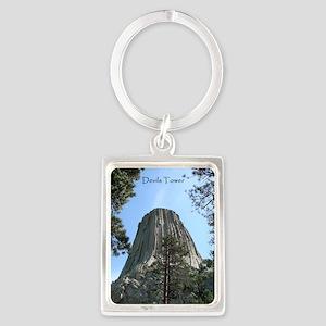Devils Tower Portrait Keychain