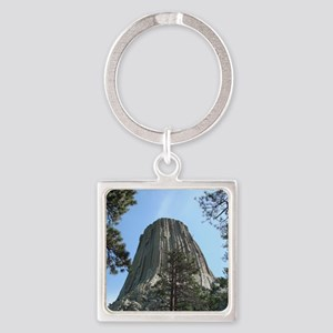 Devils Tower Square Keychain