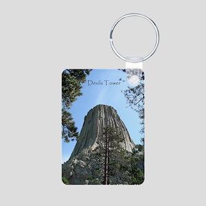 Devils Tower Aluminum Photo Keychain