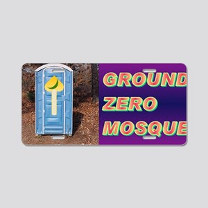 Ground Zero Mosque(small fr Aluminum License Plate