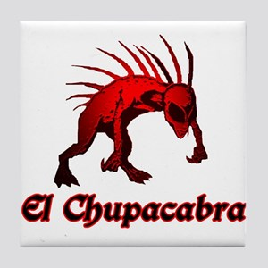 El Chupacabra Red Tile Coaster