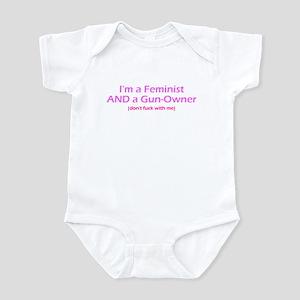 Gun-Owning Feminist Infant Bodysuit