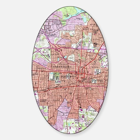 Cute Greensboro Sticker (Oval)